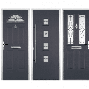 grey coloured composite doors