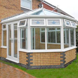 Modern conservatories with With uPVC Finish