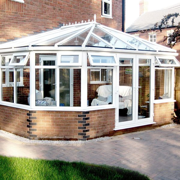 large upvc victorian glass extensions