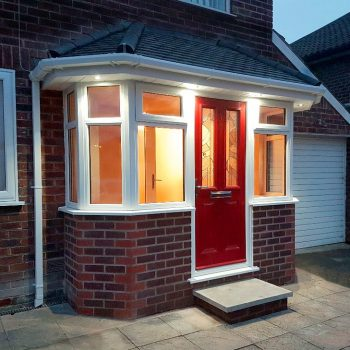 luxury porch red composite door