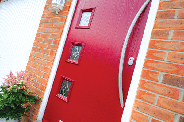 Poppy red composite door