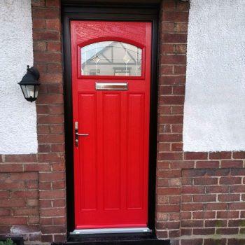 door composite in red