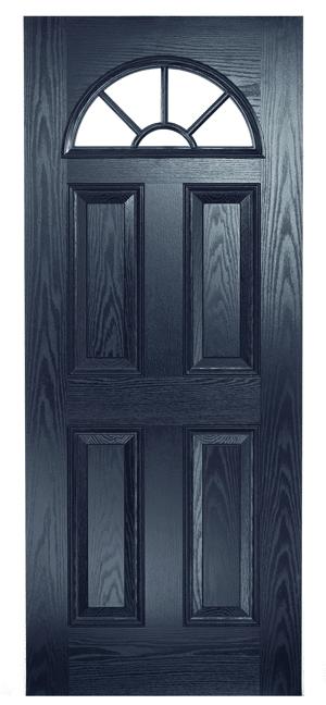 Composite Door Blue Eclat Arch Georgian
