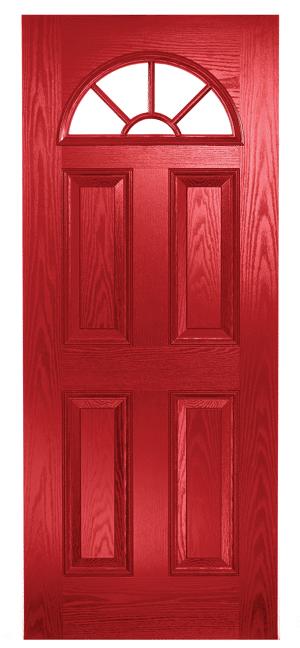 Composite Door Red Eclat Arch Georgian