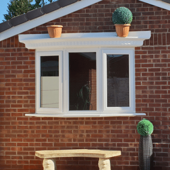 bay window on garage conversion