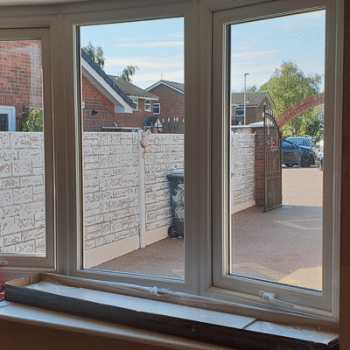 upvc bow window for garage conversion