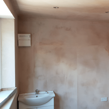 bathroom in garage conversion