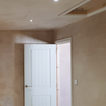 plastering garage conversion