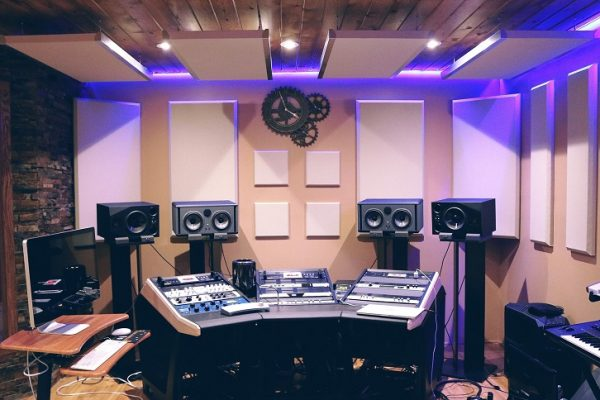 garage converted music recording studio