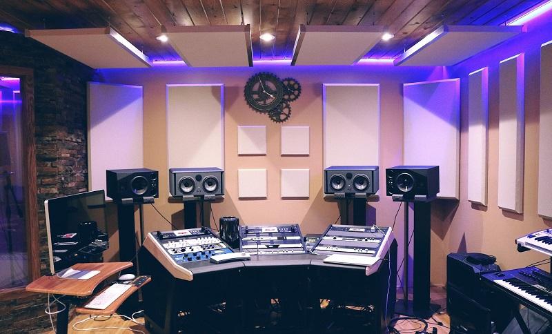 garage converted music recording studio