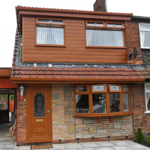 oak brown uPVC windows