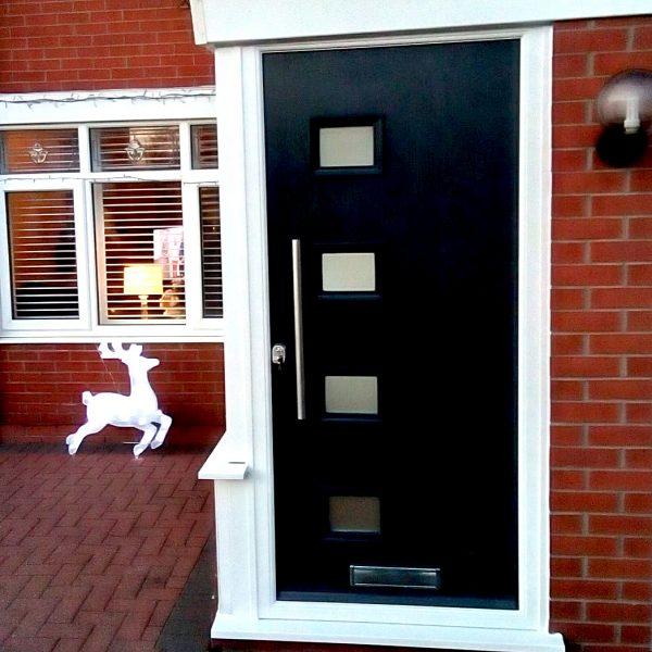 Black New Front Door