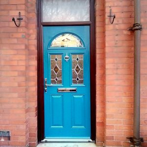 Composite Blue Door Eclat Design With Kara glass