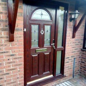 brown door side panel