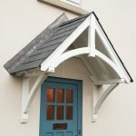 White Door Canopy with wooden finish