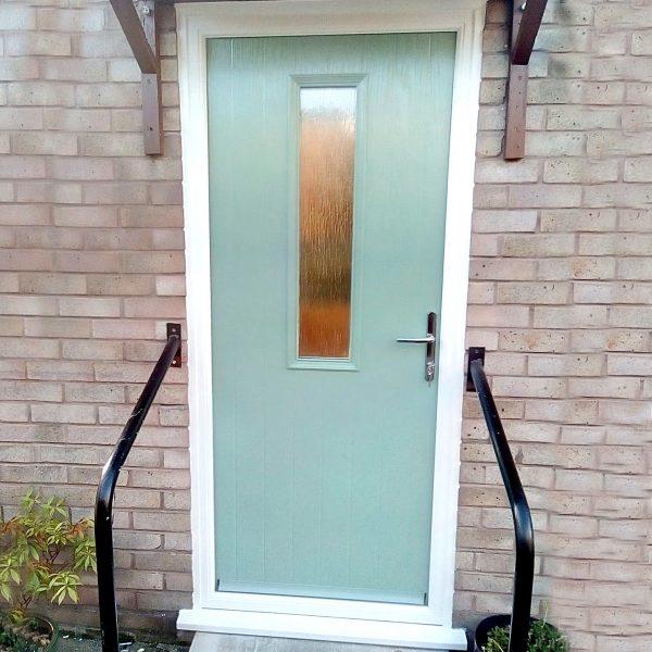 Pastel Blue Composite Back Door
