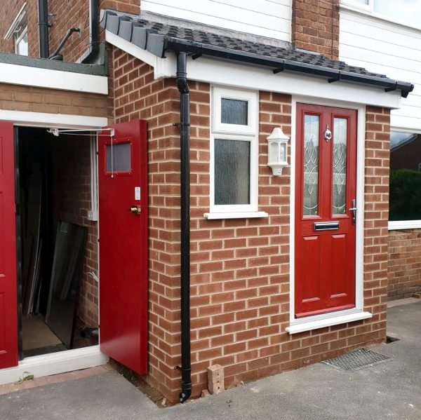 rear porch red door