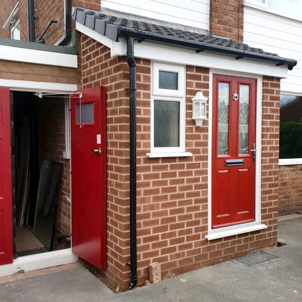 porch red door