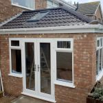 extension with side facing french doors