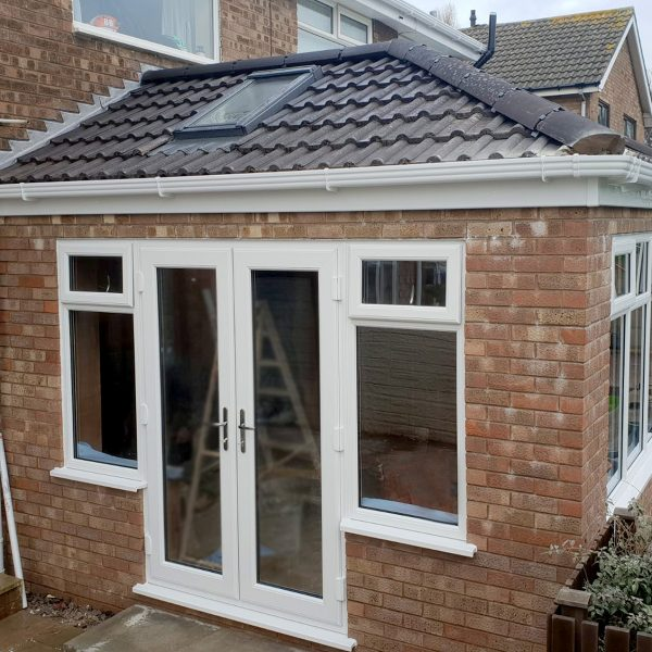 orangery extension with side facing french doors