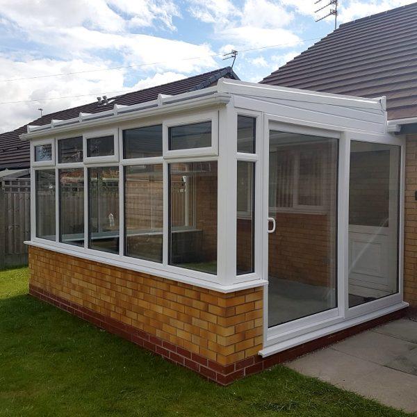 bungalow conservatories with sliding patio door