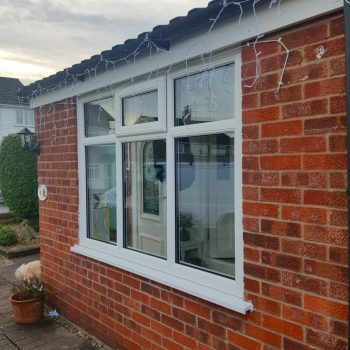 Casement Vented windows in white uPVC