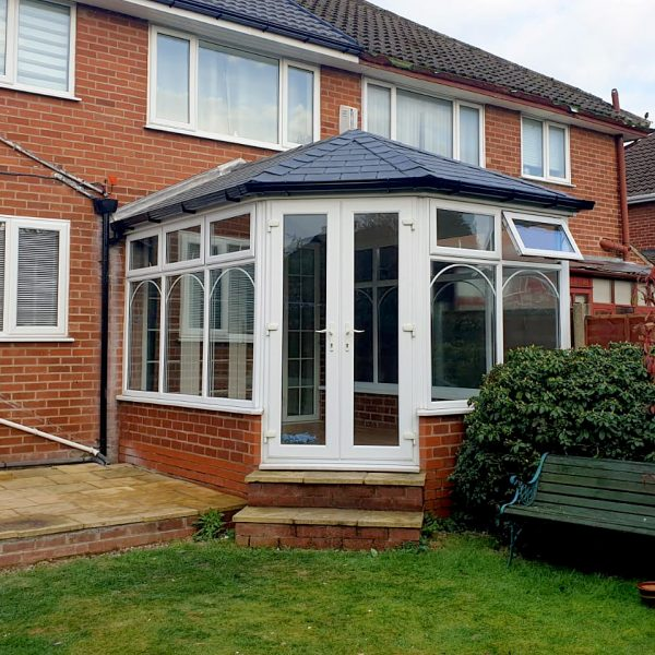 hexagon conservatory tiled roof
