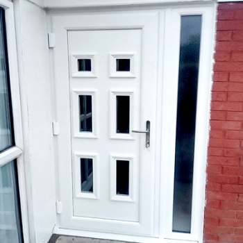 square upvc front door