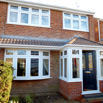 White uPVC windows full house replacemnt