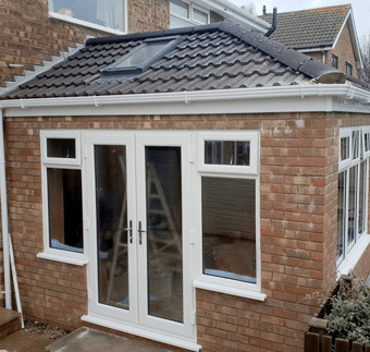 Solid Roof Orangeries With French Doors