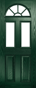 Green Eclat Arch Georgian Back Door