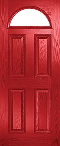 Composite Door Red Eclat Arch
