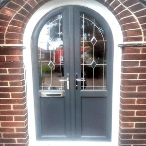 grey upvc door