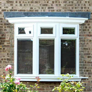 Bow window in White uPVC