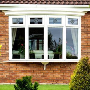 white uPVC Bow window Replacemnt