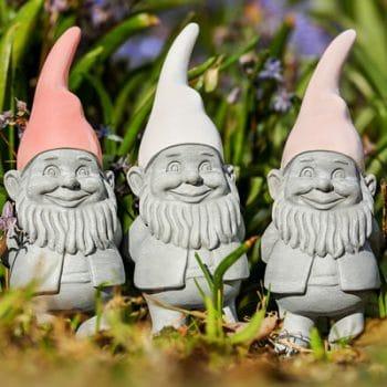 3 garden gnomes