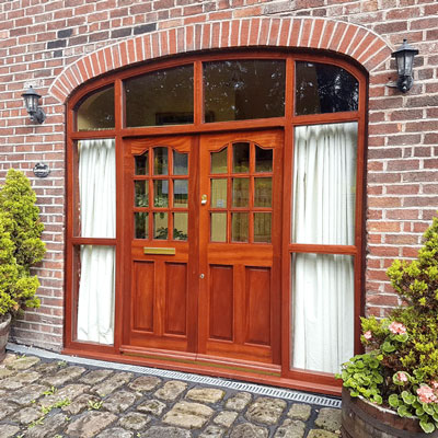 new wooden windows & doors